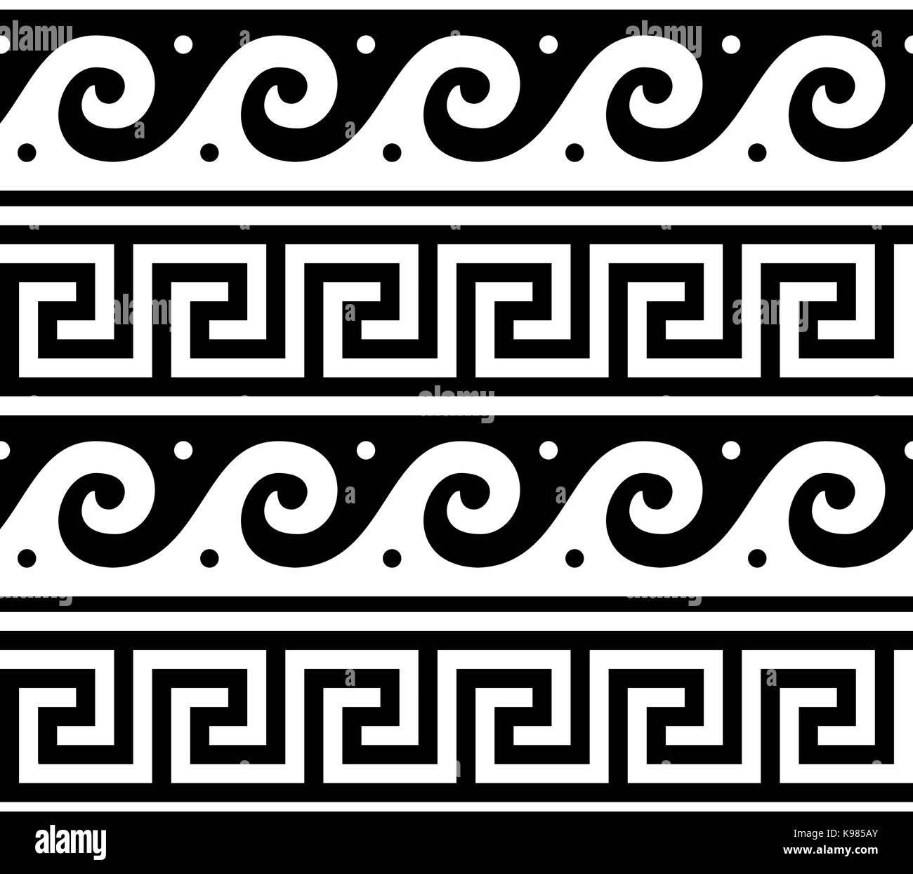 Antike Rahmen Maander Design Griechische