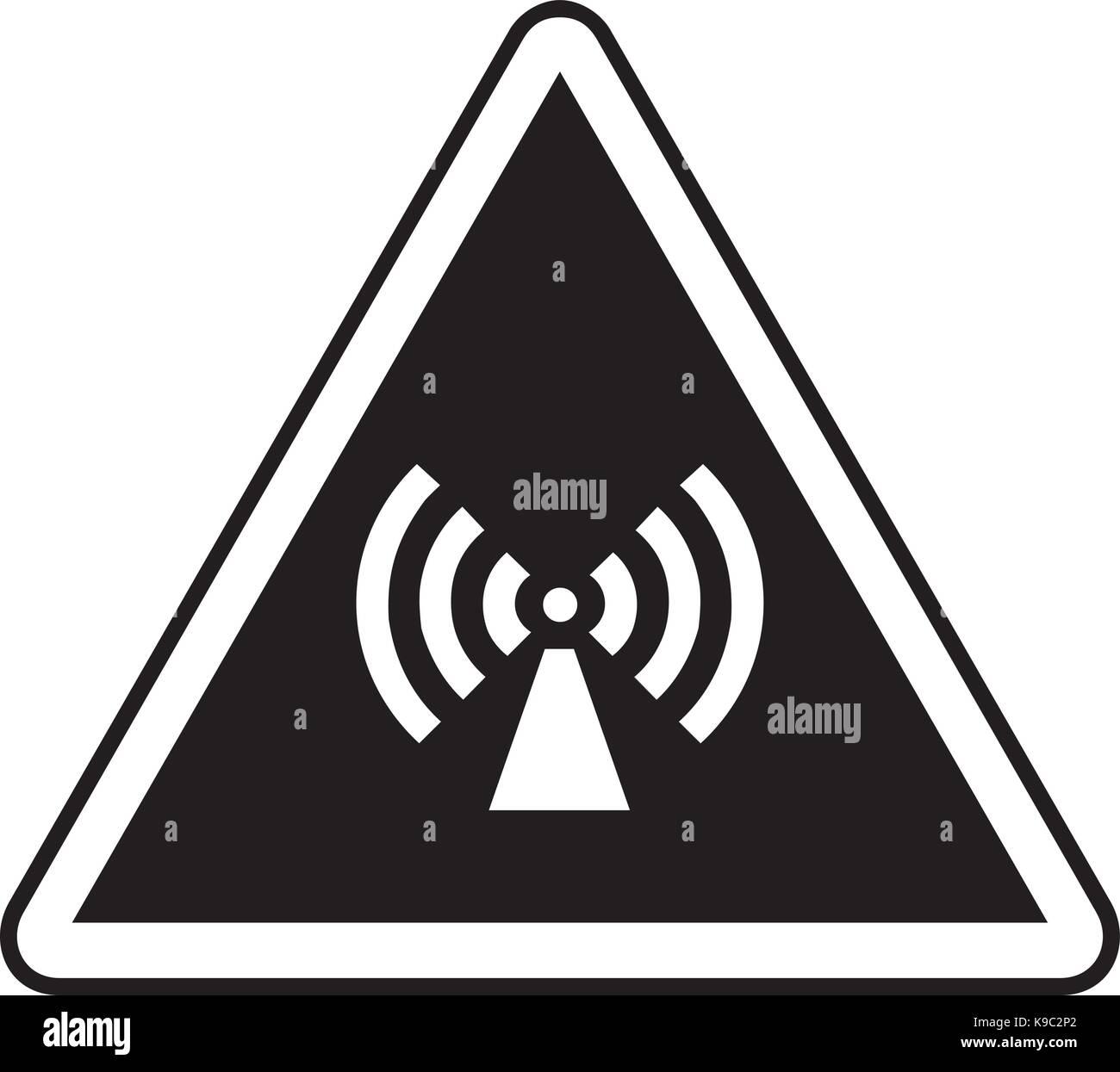 Nichtionisierende Strahlung Warnzeichen Stockbild