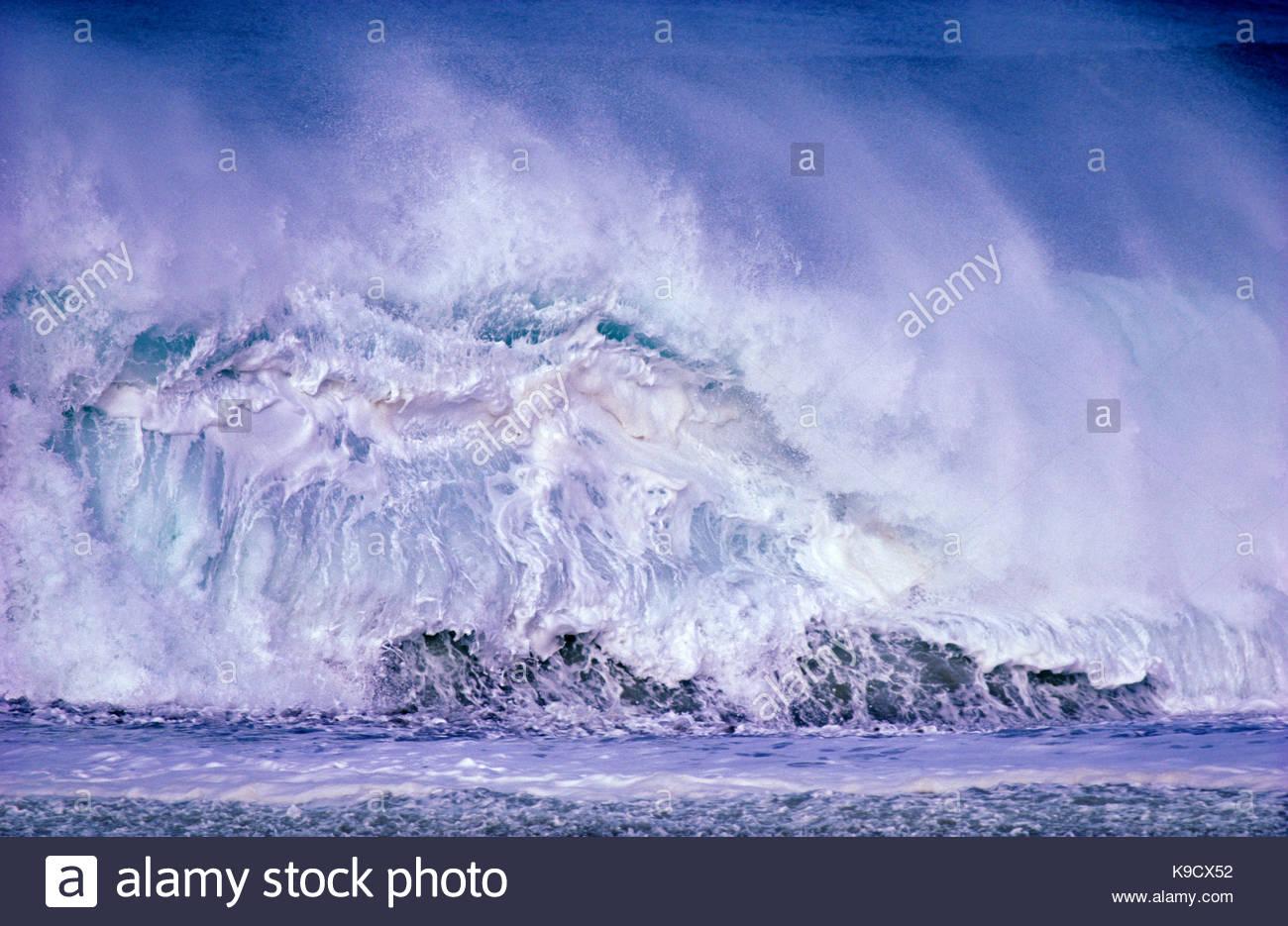 White Wave am North Beach, Point Reyes National Seashore, Kalifornien Stockbild