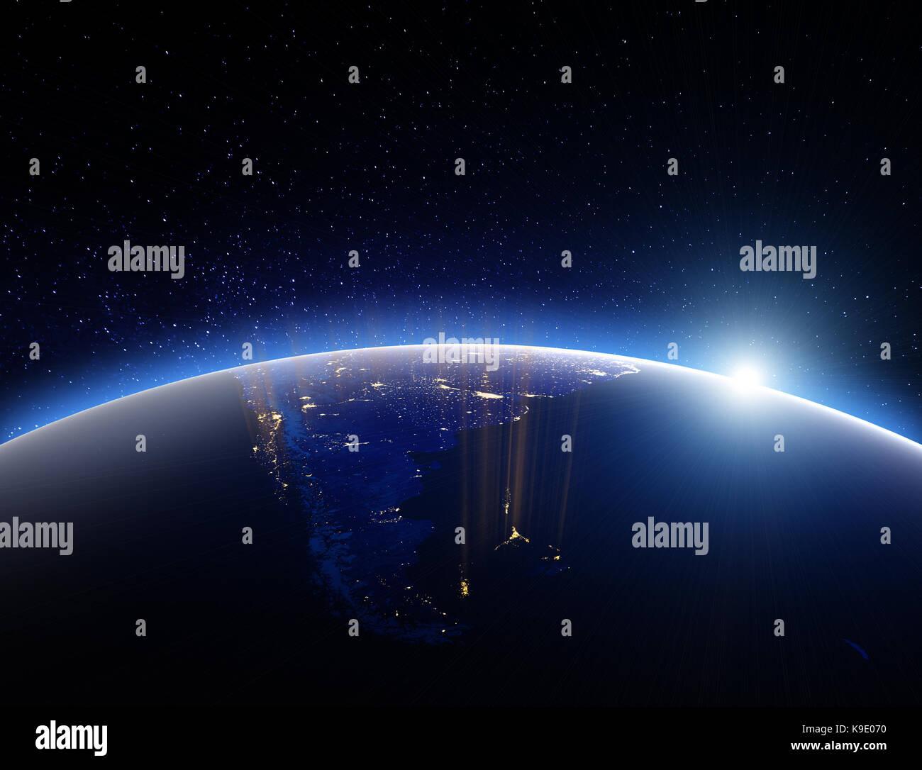Welt Globus Planet Erde. 3D-Rendering Stockbild