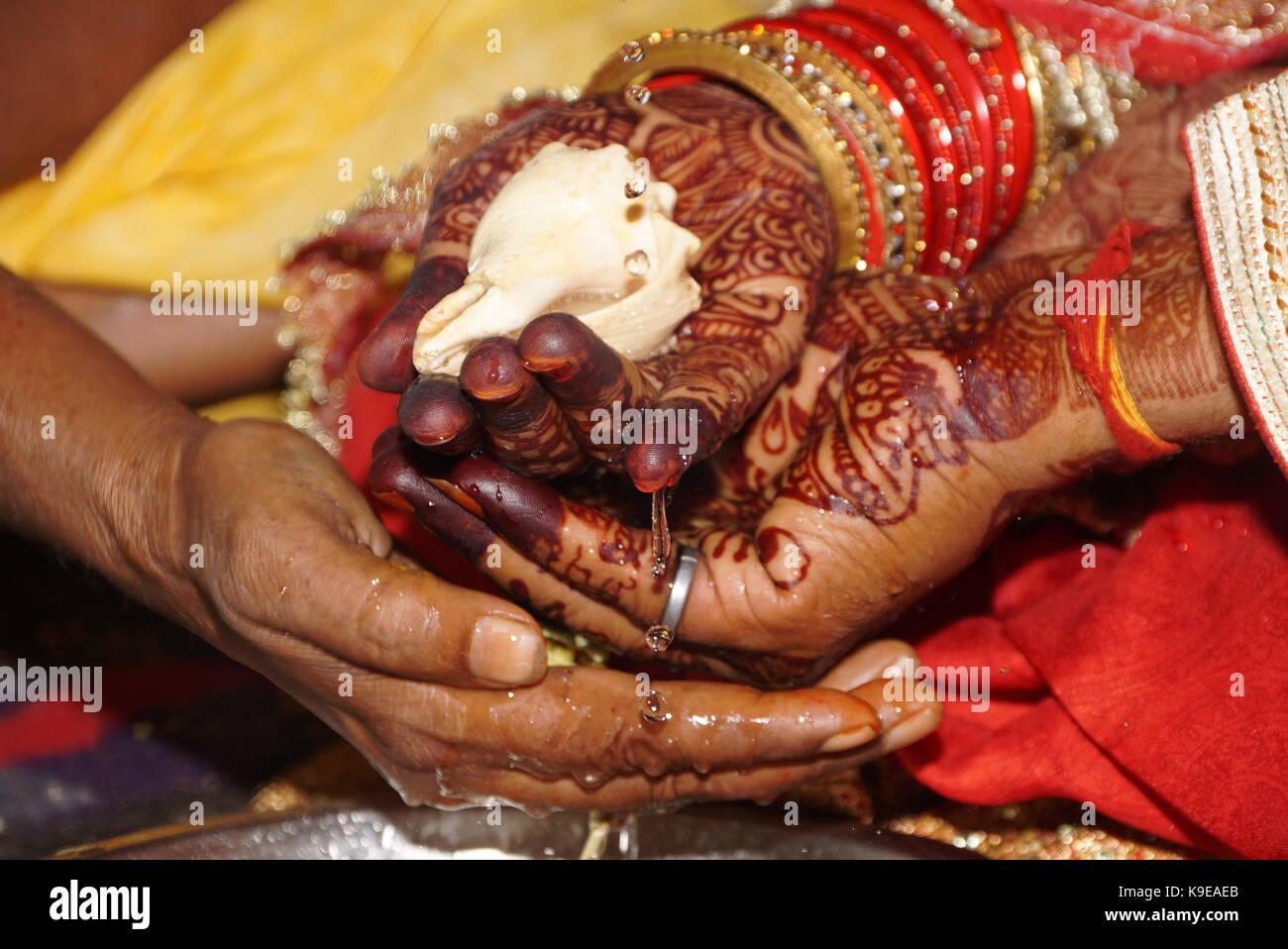 Kanya Daan Einem Wichtigen Rituale In Der Hinduistischen Hochzeit