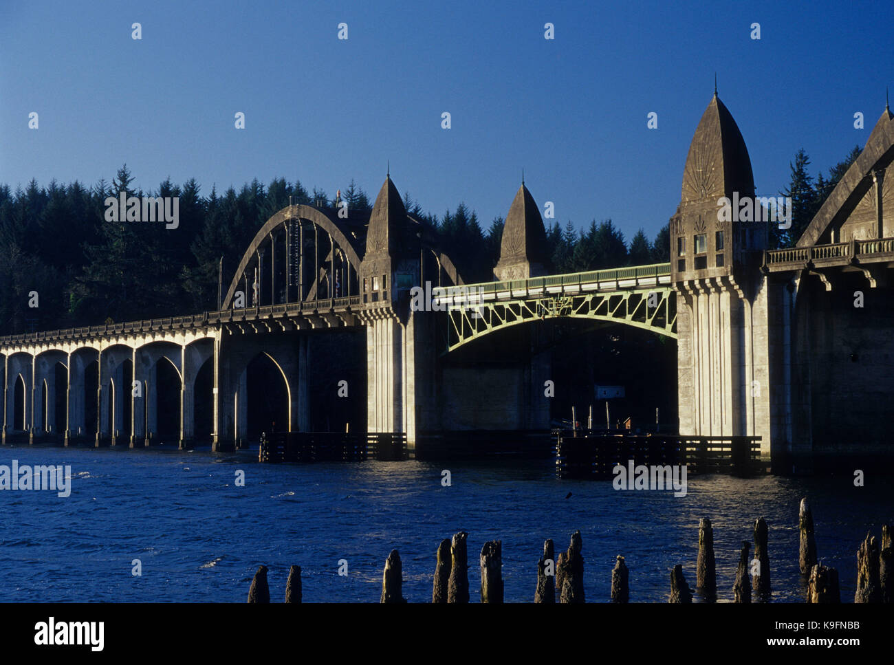 Siuslaw River Bridge, Florence, Oregon Stockbild