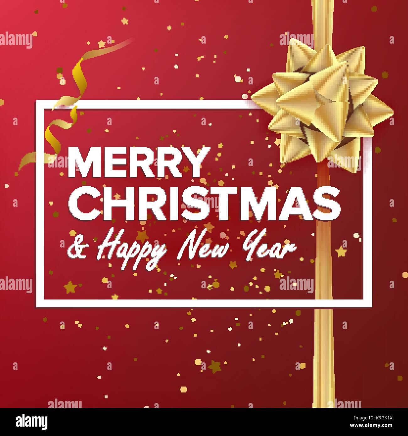 Merry Christmas Background Vektor. Schönen Luxus Urlaub Weihnachten ...