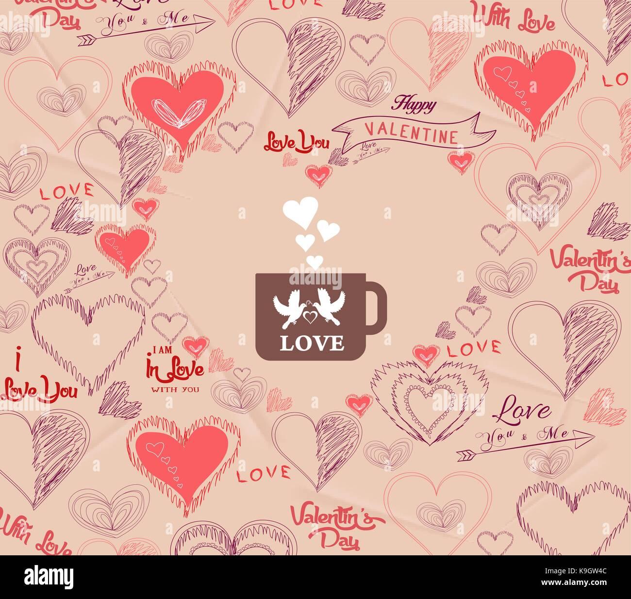 Hochzeit Einladung Karte Fur Den Valentinstag Mit Vogel Paar In