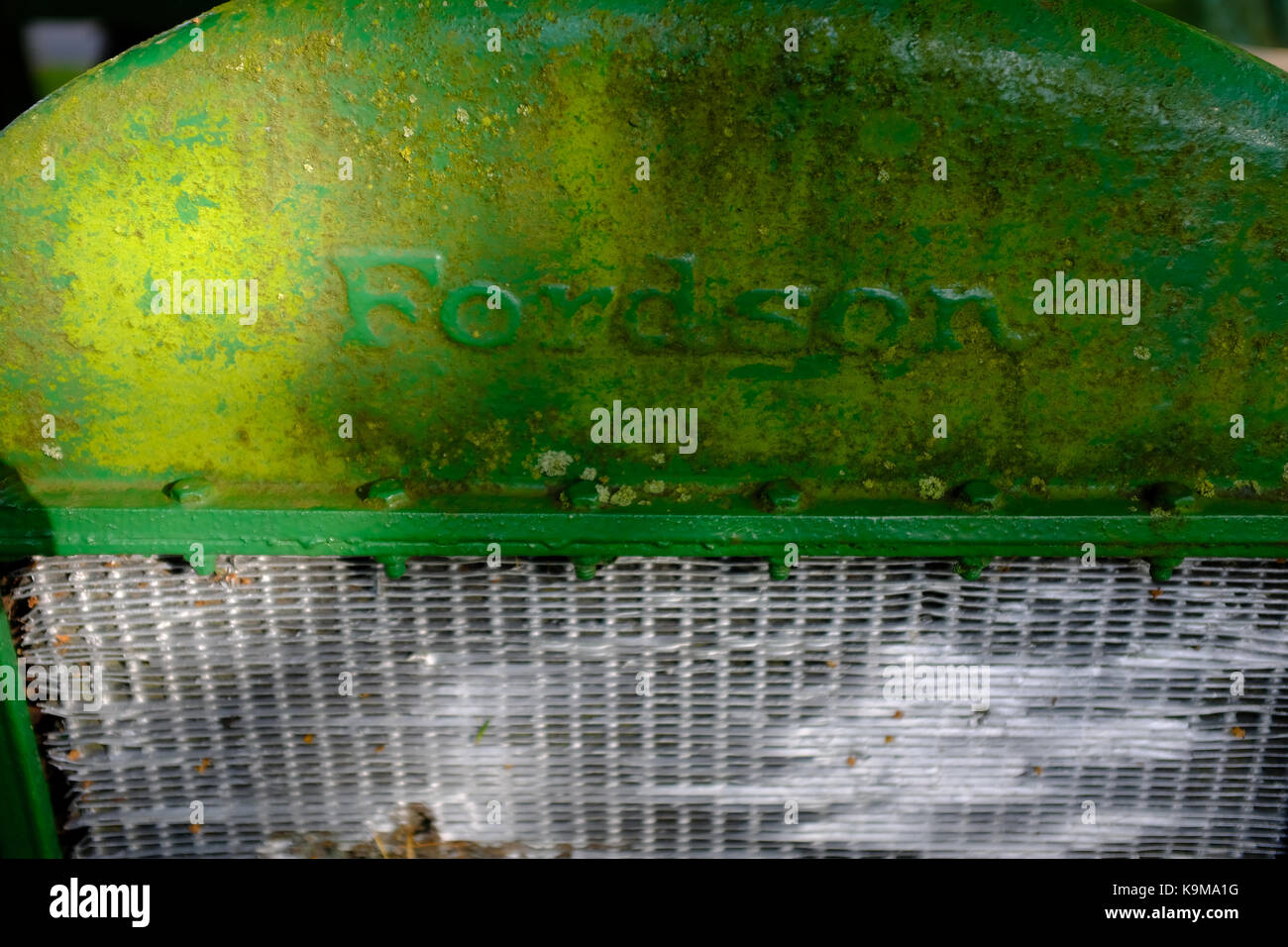 Ford Traktor bei Gretna Green - Schottland Stockbild