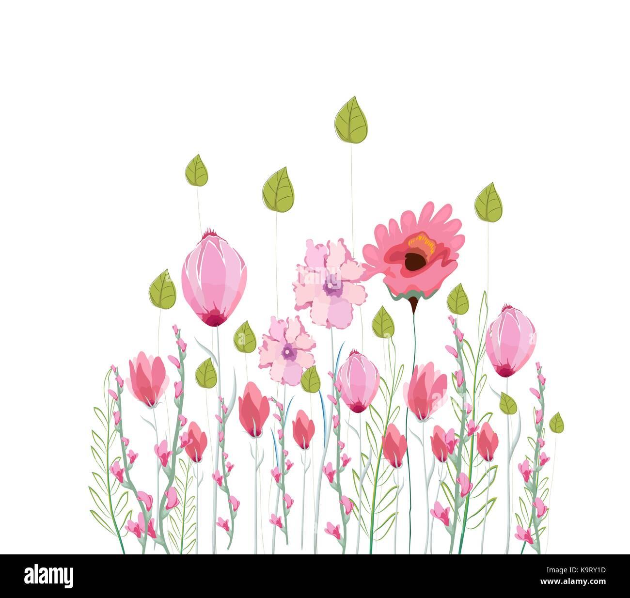 Blumen Zeichnen Aquarell Vektor Abbildung Bild 160951321 Alamy