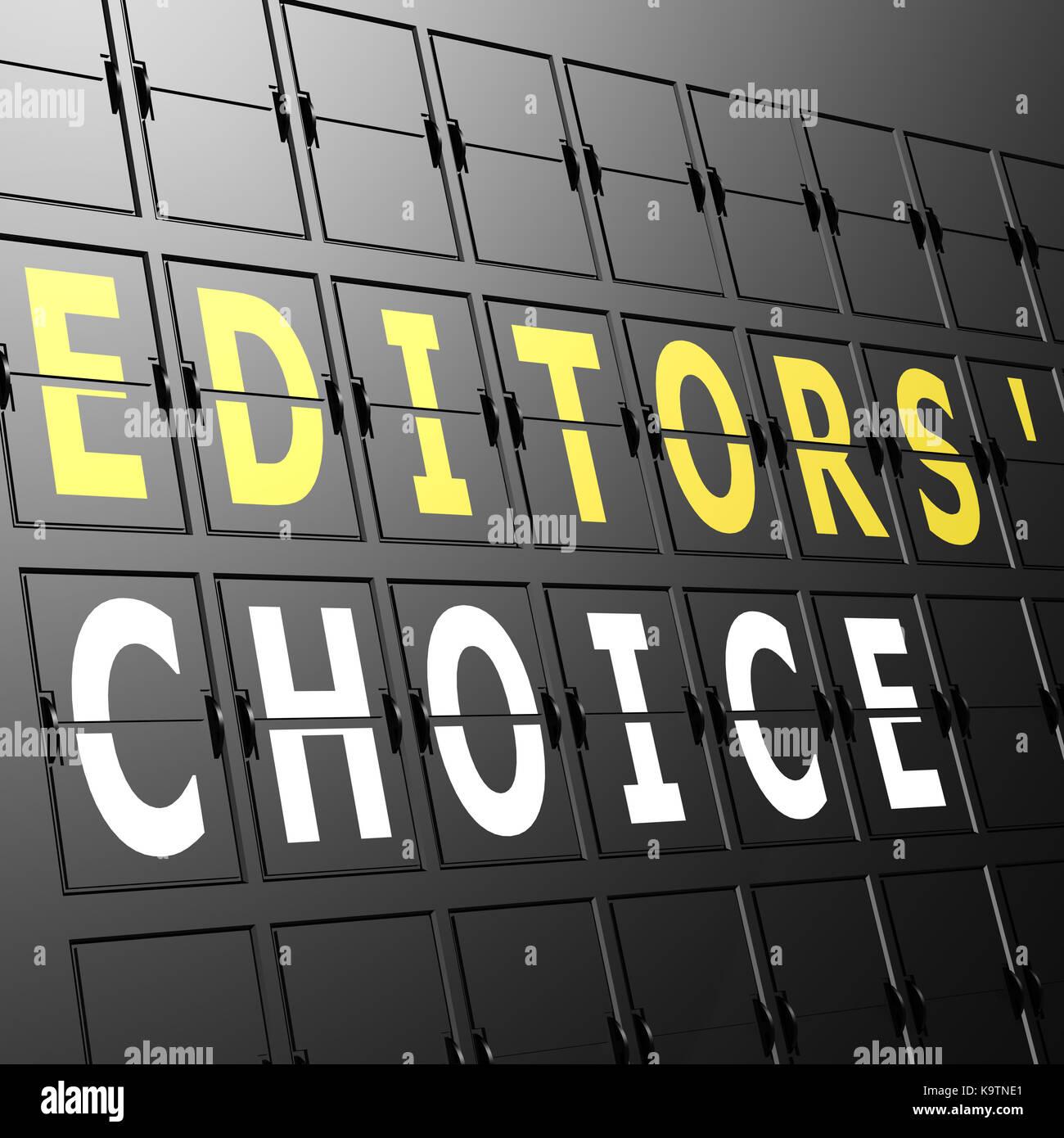 Flughafen Anzeige Editors Choice Stockbild