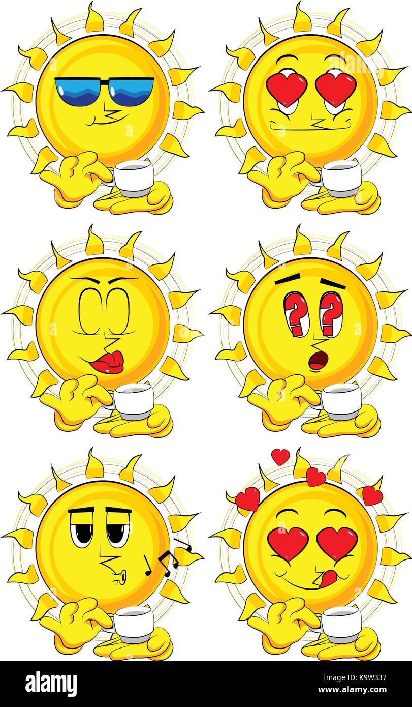 Mug Coffee Tea Heart Vector Stockfotos & Mug Coffee Tea ...