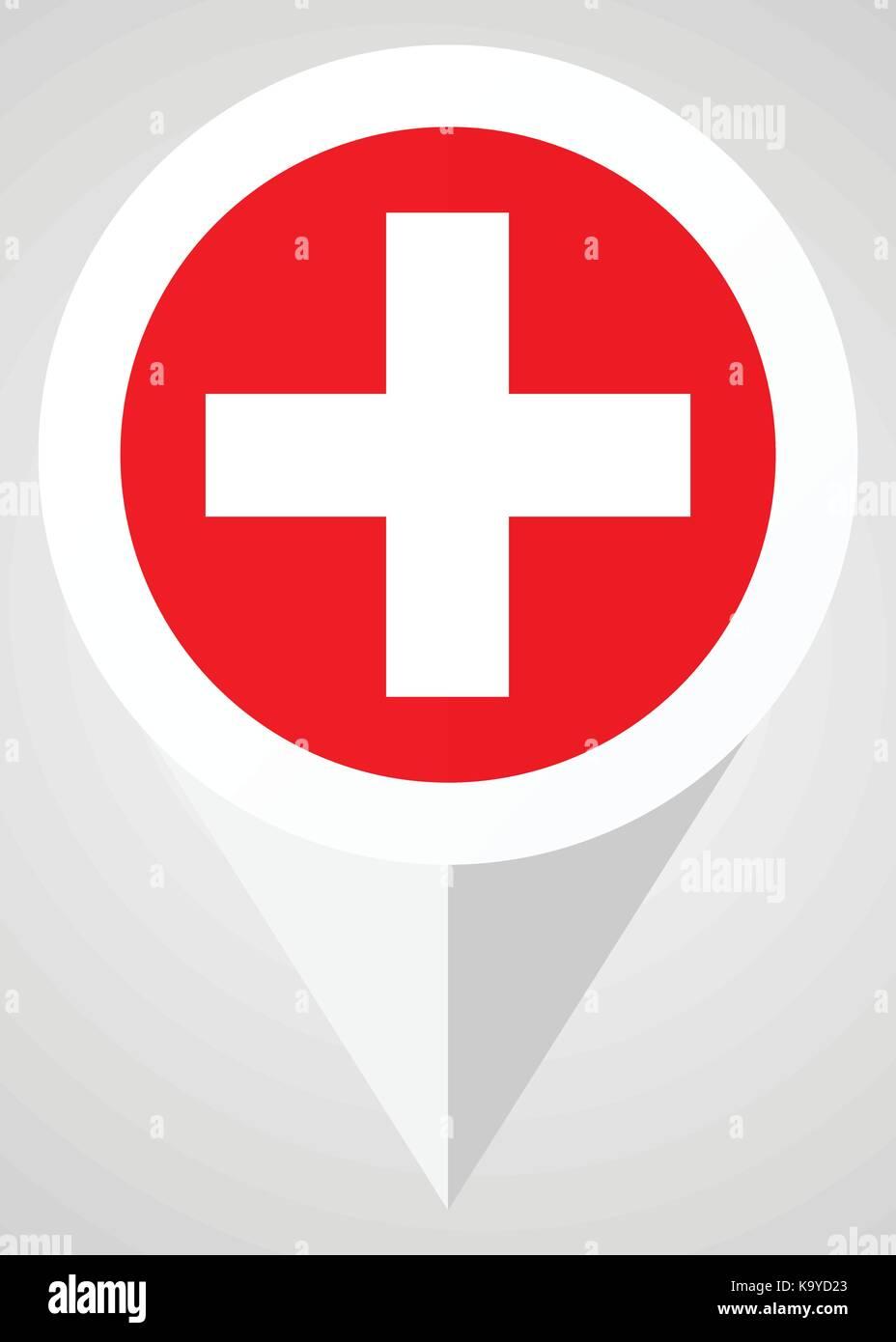 Plus Vektor icon. Weiß und Rot web Zeiger in eps 10 für Webdesign und smartphone Anwendungen. Stock Vektor