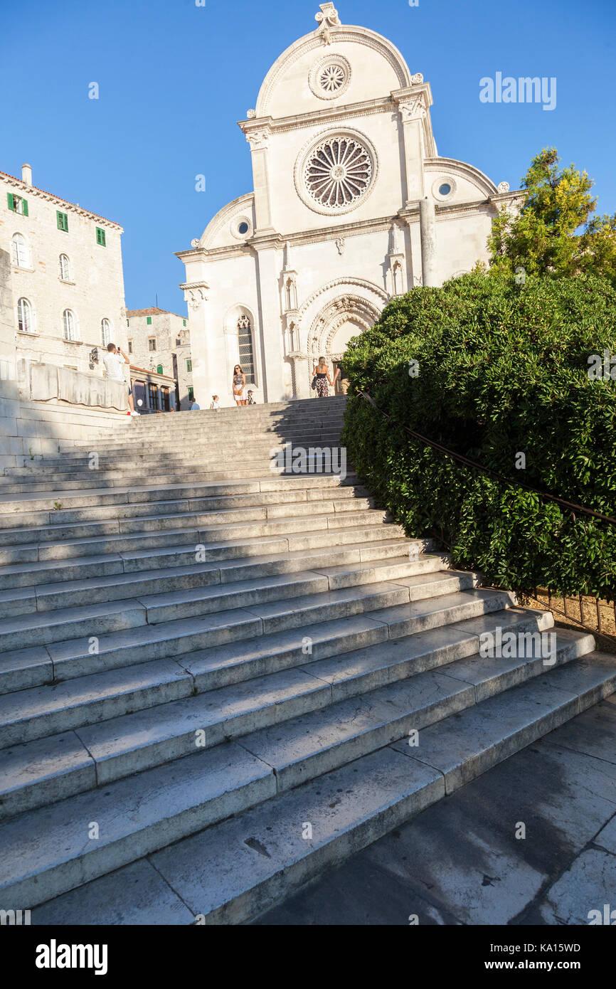 Die Kathedrale des Heiligen Jakob in ?ibenik, Kroatien Stockbild