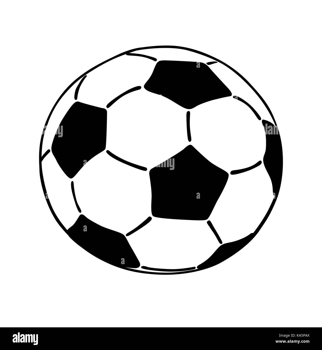 Fussball Symbol Auf Weissem Hintergrund Flache Vector