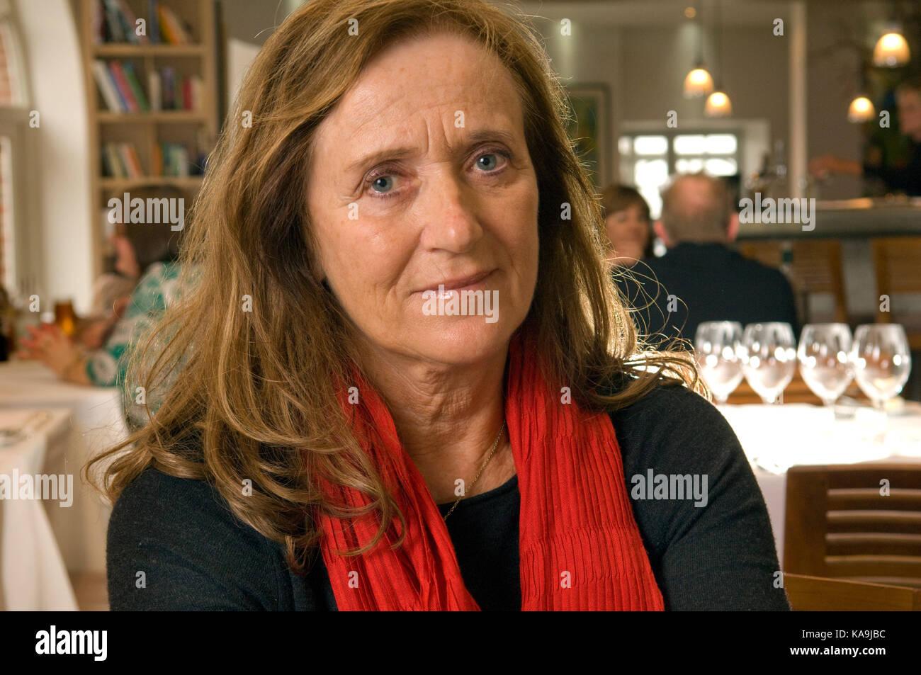 Jill Stein, ehemalige Ehefrau des Rick Stein und co Inhaber der Seafood Restaurant, padstow. Stockbild