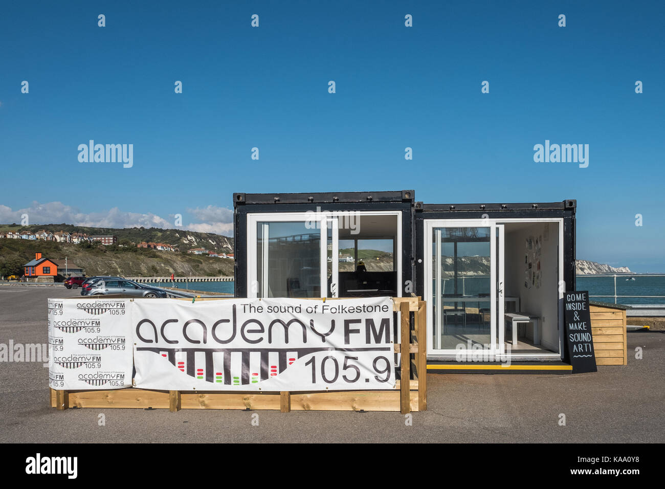 Sound Art Folkestone Triennale Akademie FM Radio Kent UK Stockfoto