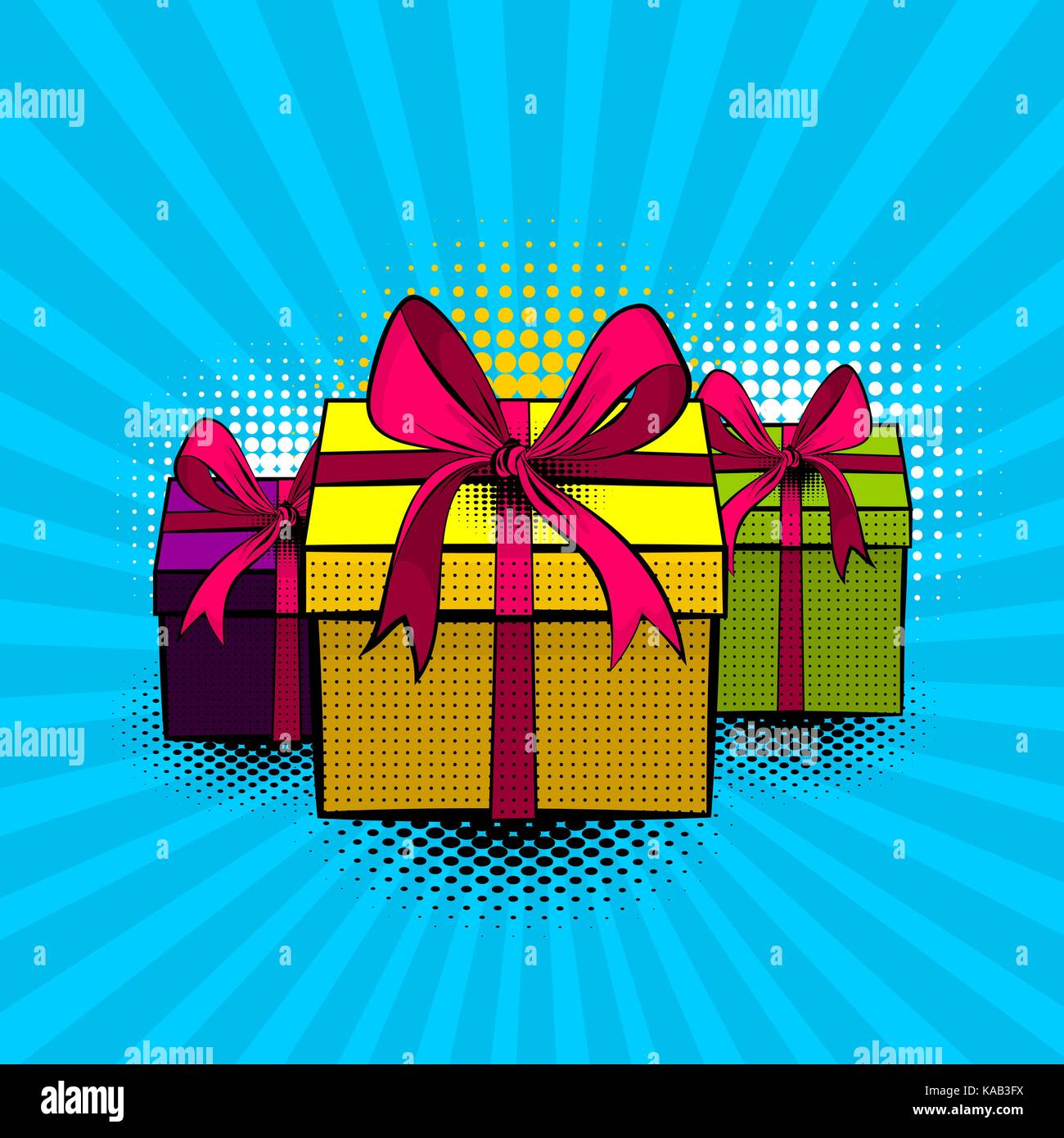 Pop Art Set Sammlung Geschenkbox Schones Band Fur Urlaub Geburtstag