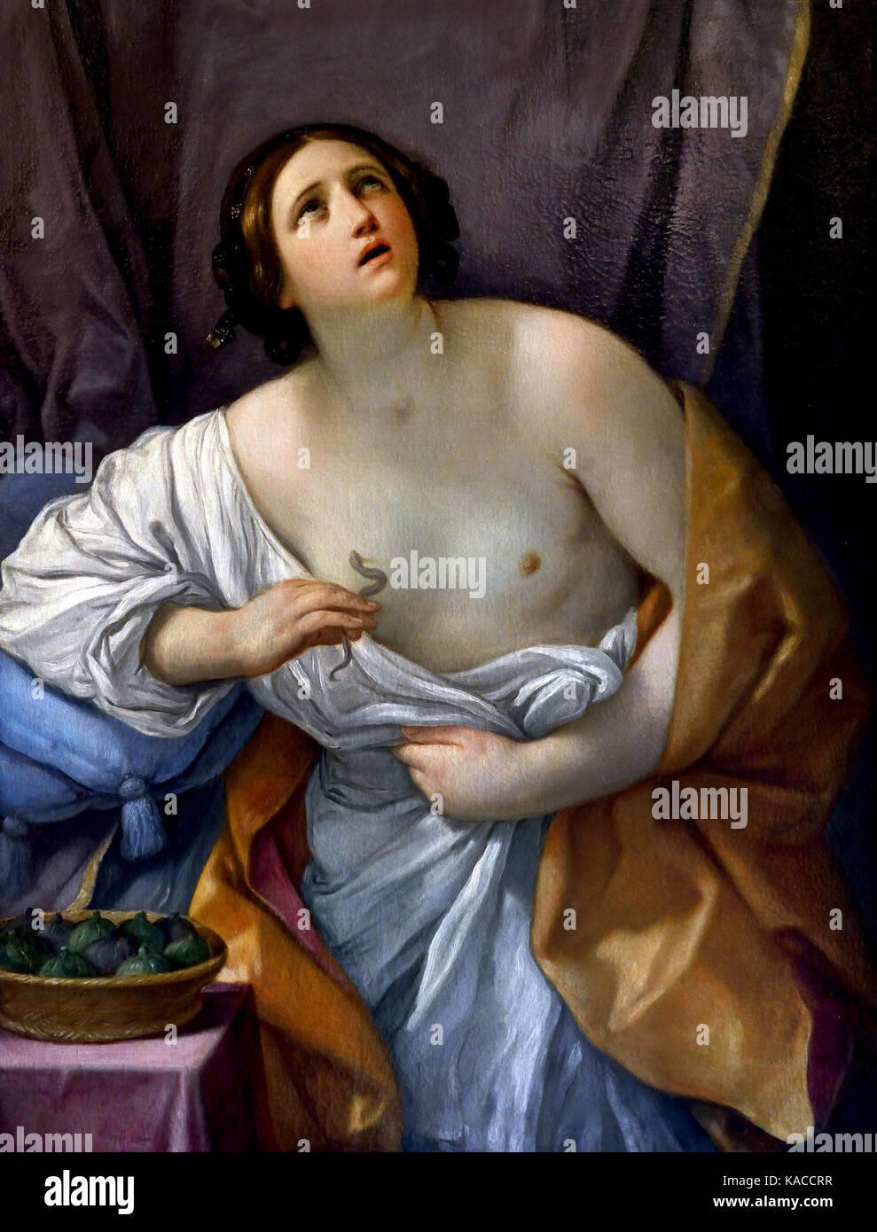 Cleopatra, Guido Reni 1575 - 1642 war ein italienischer Maler des Barock. Philopator Kleopatra VII 69 - 30 v. Chr., Stockbild