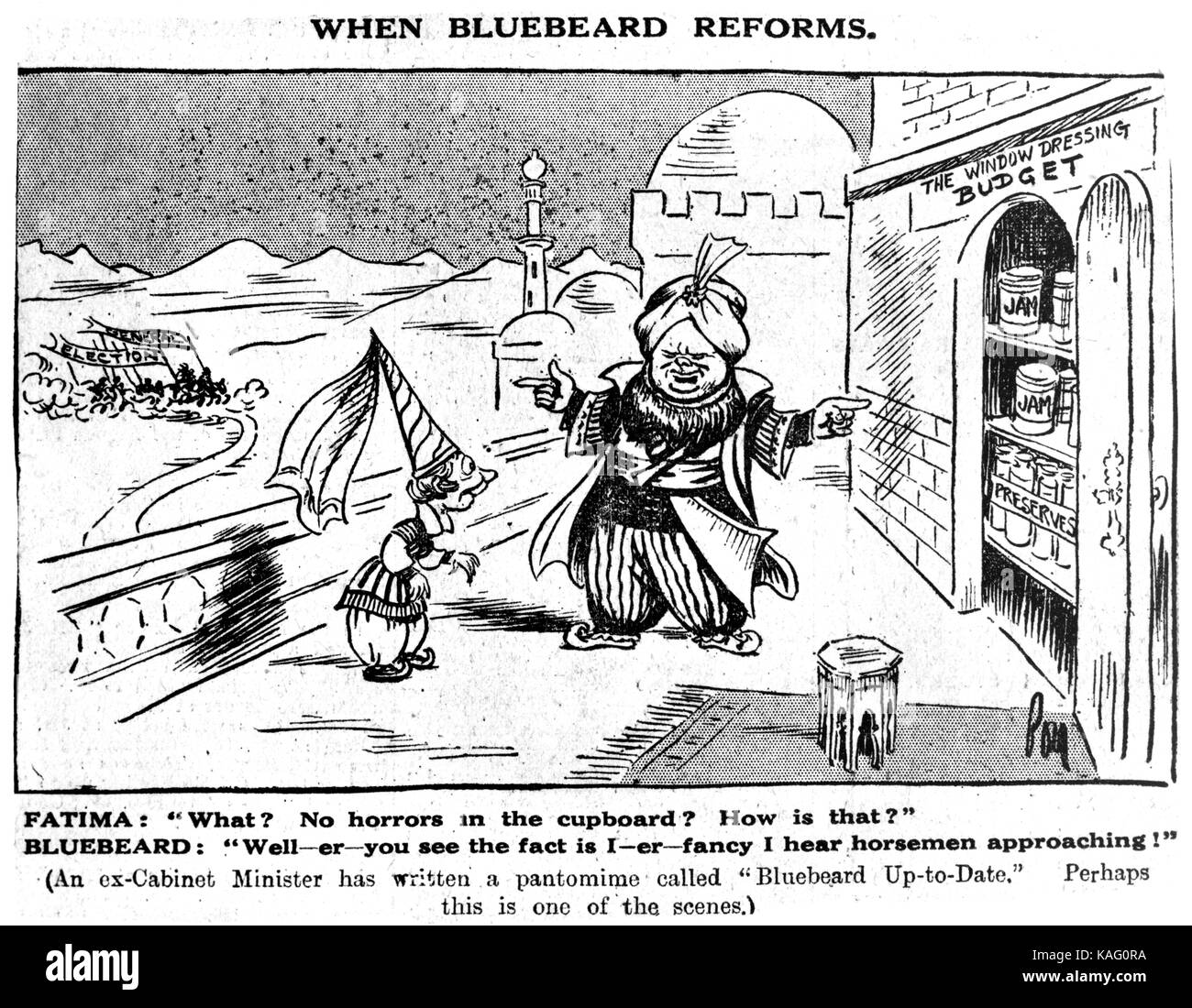 Churchill Cartoon Stockbild