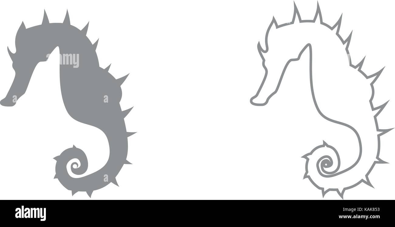 Groß Einfache Seepferdchen Färbung Seite Zeitgenössisch - Druckbare ...