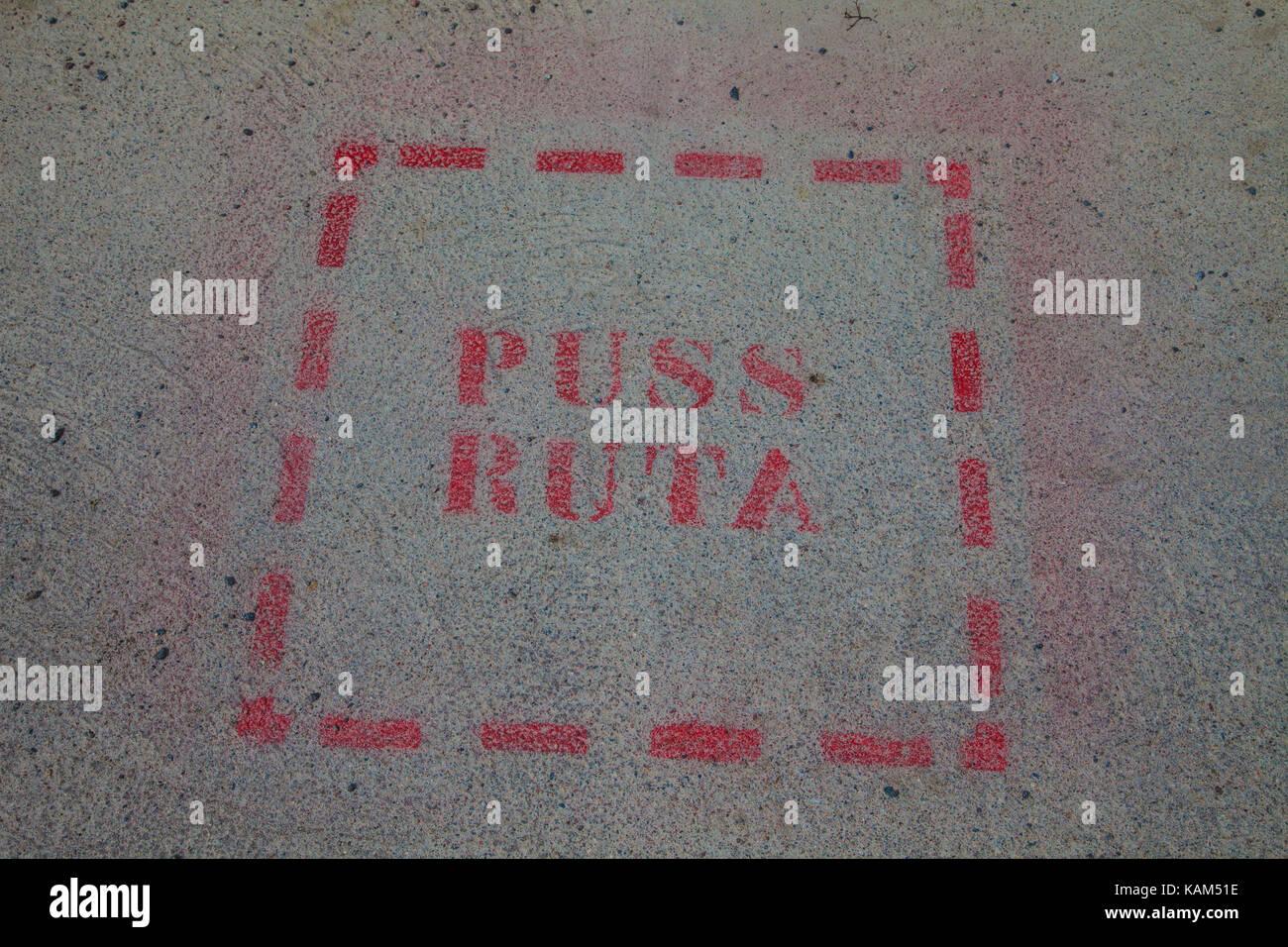 Pussruta/Küssen box Stockbild
