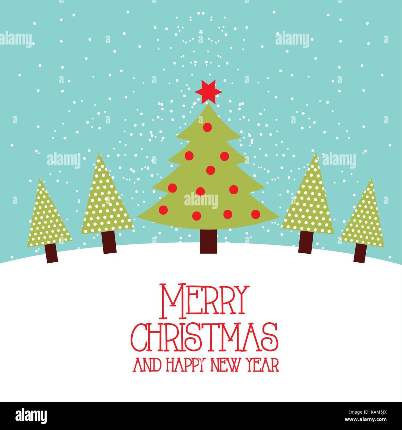 Frohe Weihnachten und guten Rutsch ins neue Jahr baum kiefer stern ...