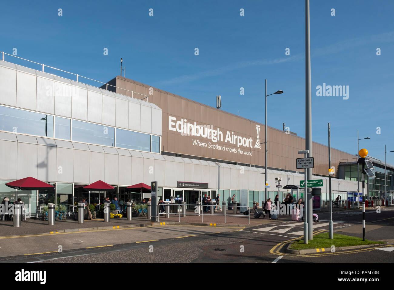 Edinburgh International Airport, Lothian, Schottland, Vereinigtes Königreich. Stockbild