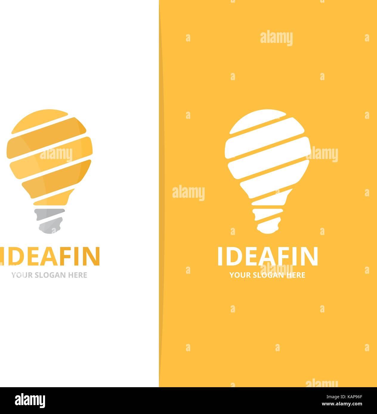Vektor Lampe logo Kombination. Glühbirne Symbol oder Icon ...
