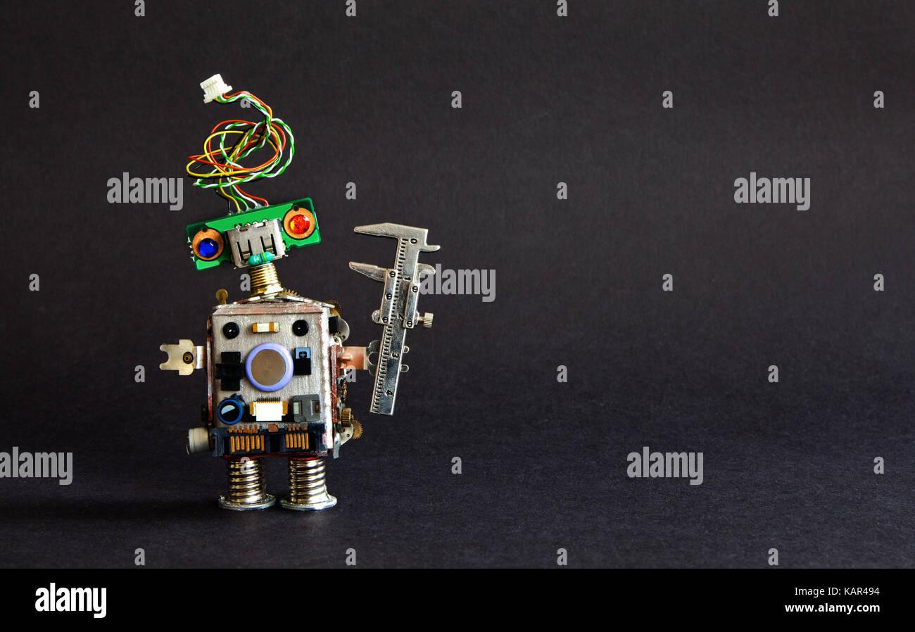 Industrie 4.0 Automatisierungstechnik Konzept. Kreative Gestaltung ...