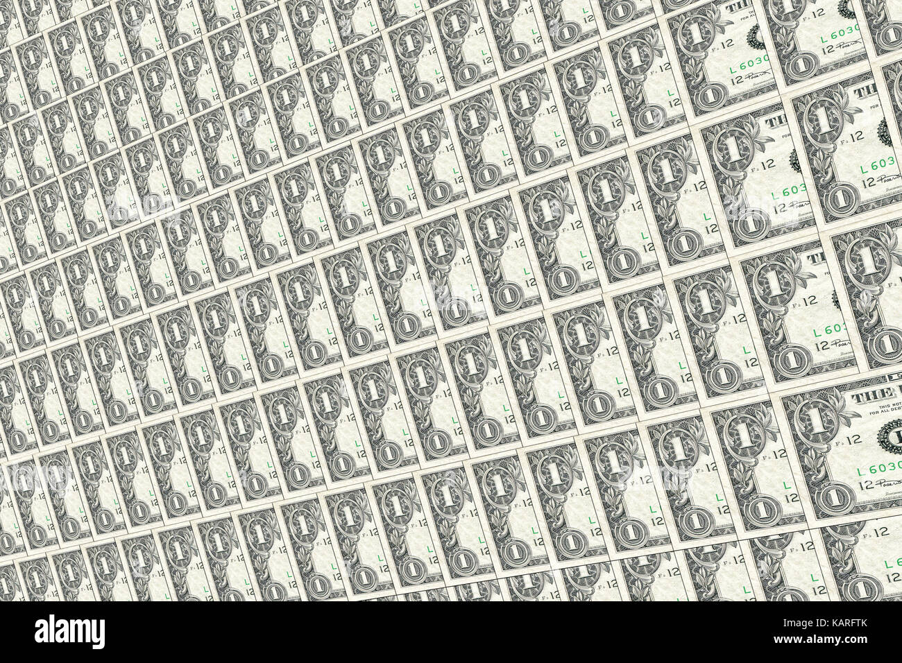 Alte Dollar Noten Hintergrund. Texturen und Hintergründe. Stockbild