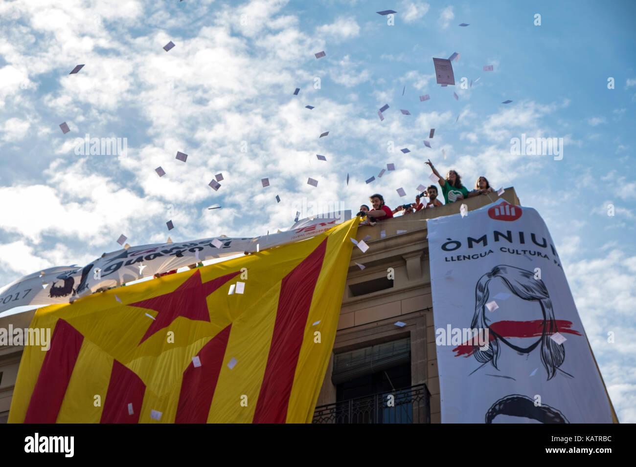 Kataloniens, separatistischen Regierung hat ein Referendum über die von Spanien für den 1. Oktober aufgerufen Stockbild