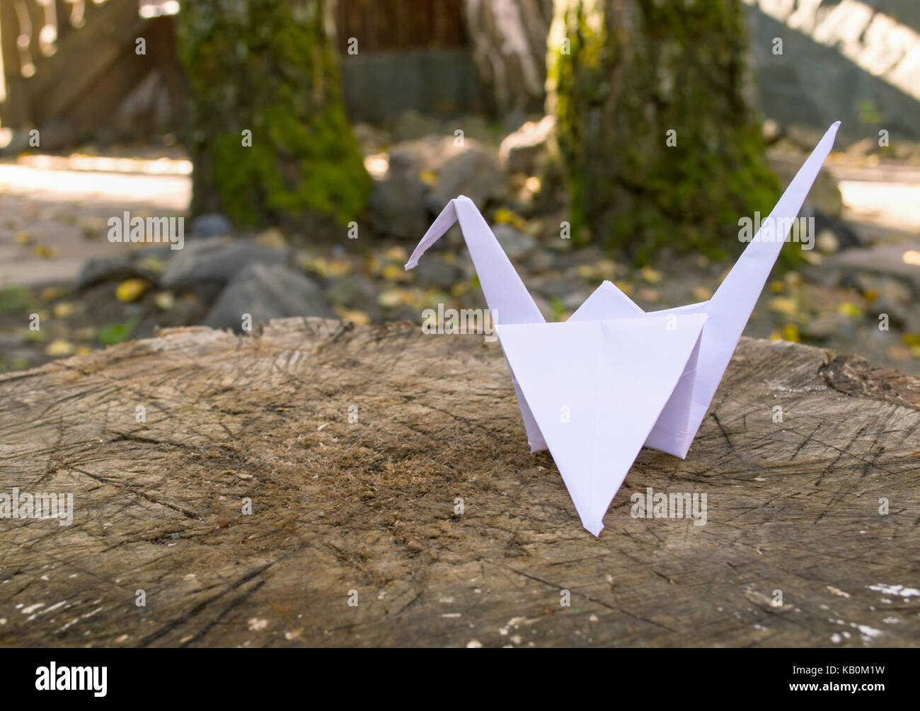 Papercrane Stockbild