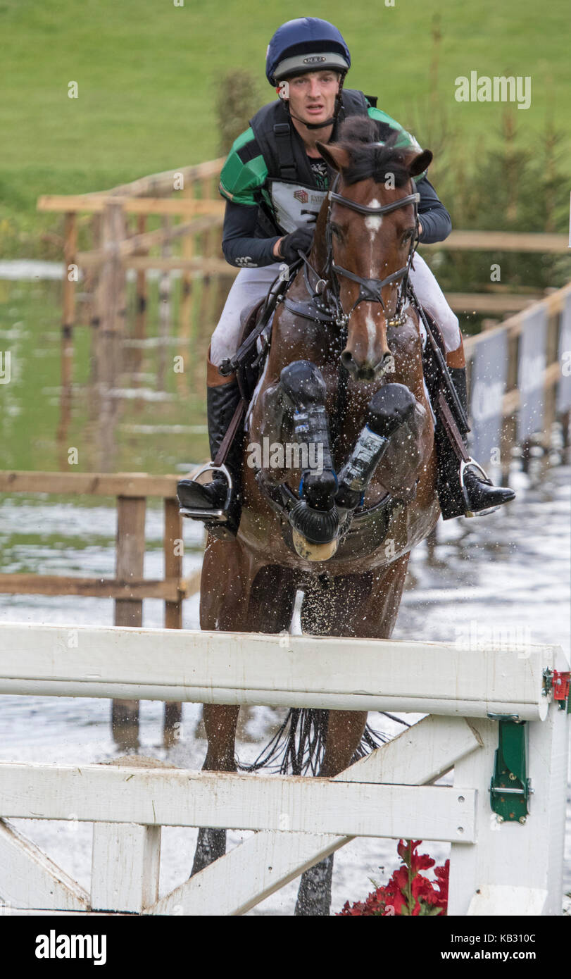 Tom Jackson auf Waltham Fiddlers finden, SsangYong Blenheim Palace International Horse Trials 16. September 2017 Stockbild