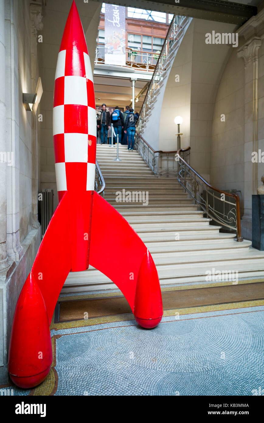 Belgien, Brüssel, Centre belge de la bande dessinee, Belgische Comic-Zentrum, Anbauteile innen Stockbild