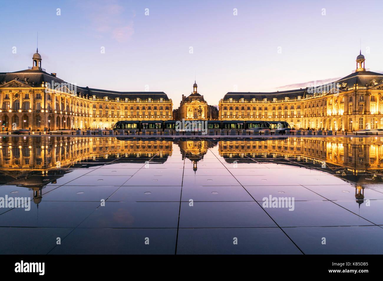 Place de la Bourse, Bordeaux, unesco-weltkulturerbe, Gironde, Aquitanien, Frankreich, Europa, Bordeaux, Frankreich Stockbild