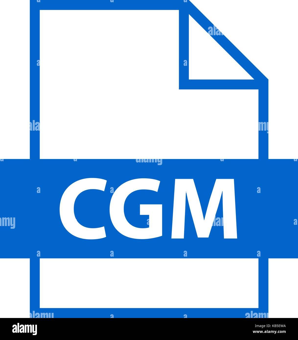 Es in allen ihren Designs verwenden. Dateinamenerweiterung Symbol CGM Computer Graphics Metafile im flachen Stil. Stockbild