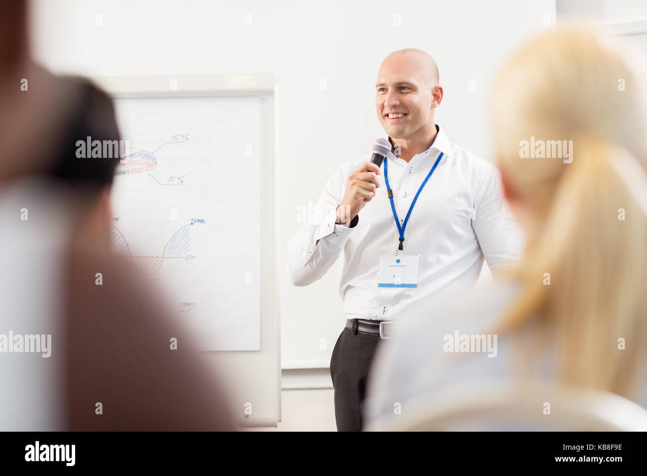 Gruppe von Personen bei Business Konferenz Stockfoto
