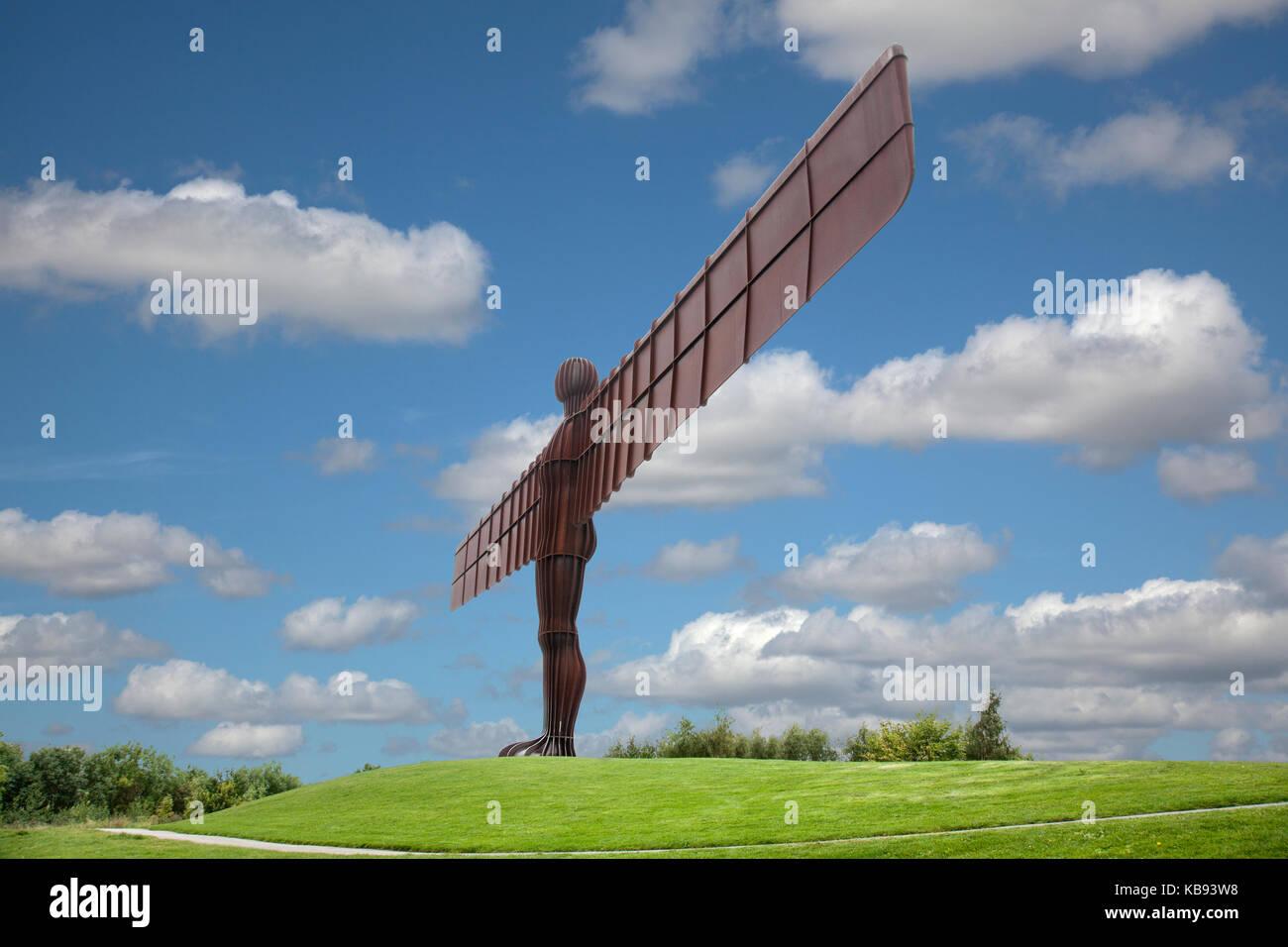 Der Engel des Nordens ist einer zeitgenössischen Skulptur, von Antony Gormley, in Gateshead in Tyne konzipiert Stockbild