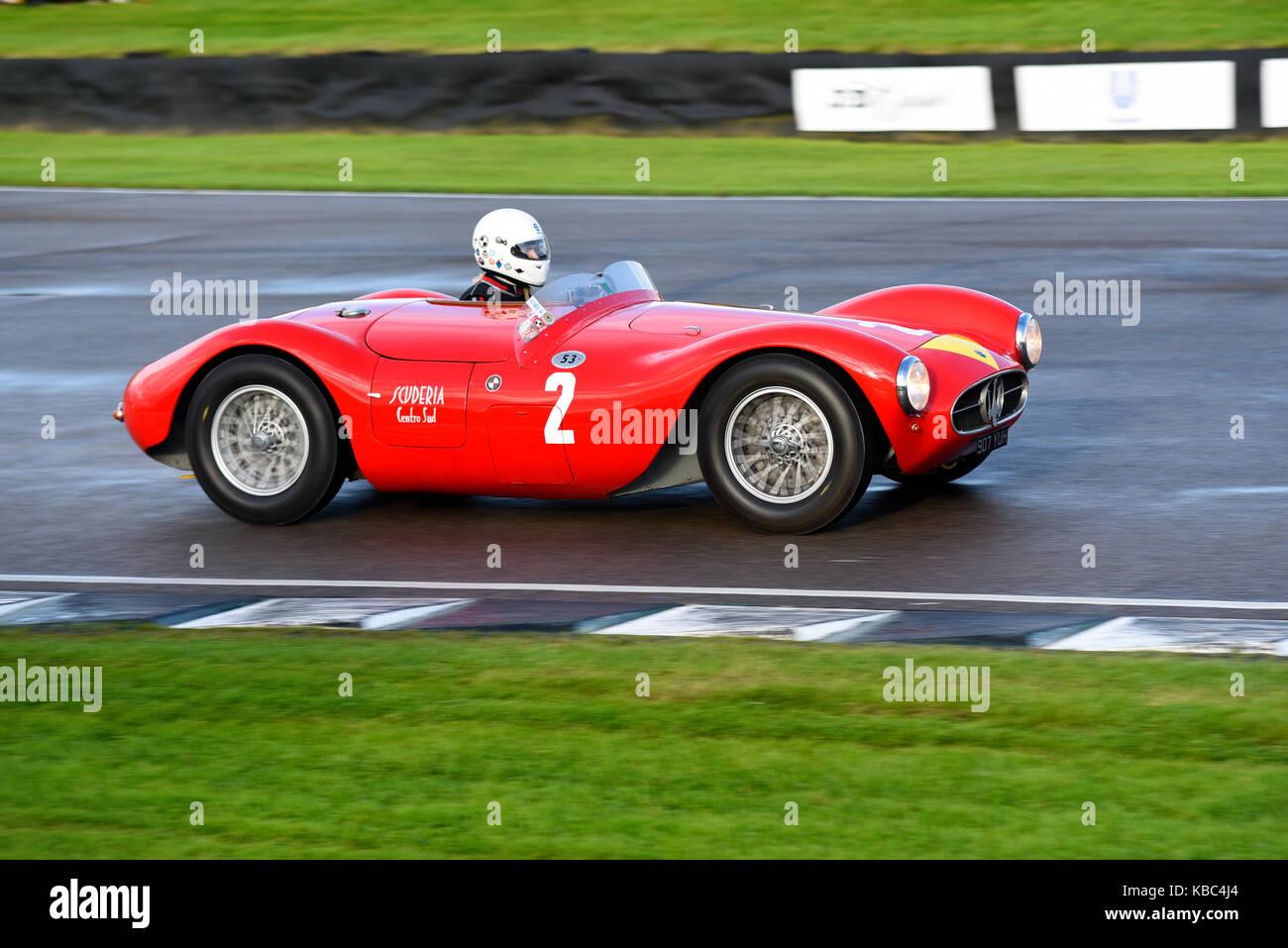 1955 Maserati A6GCS im Besitz und unter der Leitung von Manuel Elicabe racing in der Freddie März Memorial Stockbild
