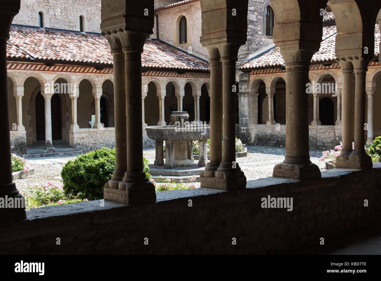 Kunst in der alten Abtei von follina. Stockfoto