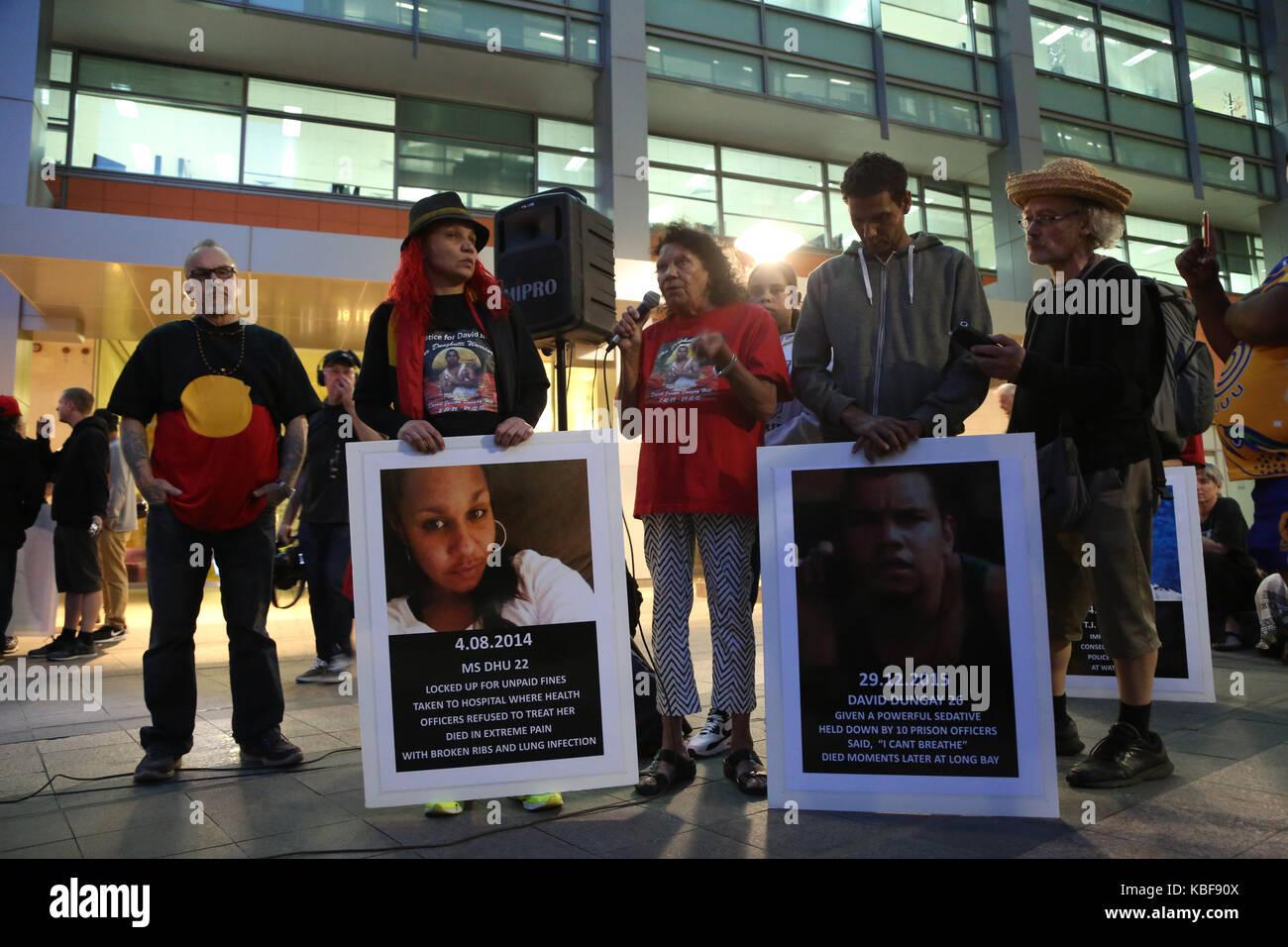Sydney, Australien. 29 Sep, 2017. Ein nationaler Tag der Aktion war im ganzen Land statt, als die Demonstranten Stockbild