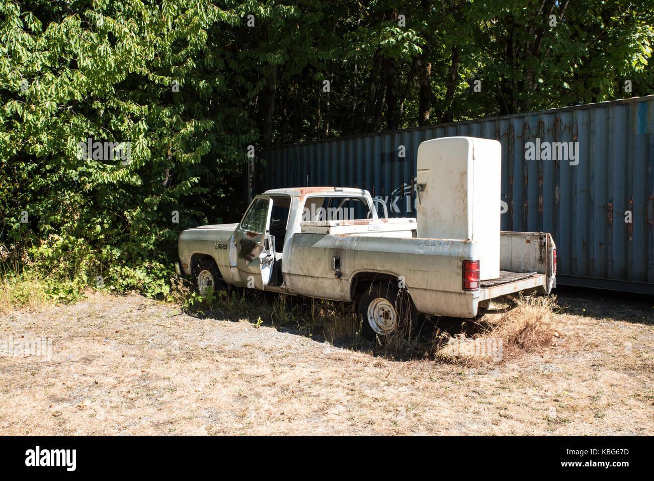 Lieferung Lkw funktioniert nicht - ein sehr gut gebrauchte Behälter ...