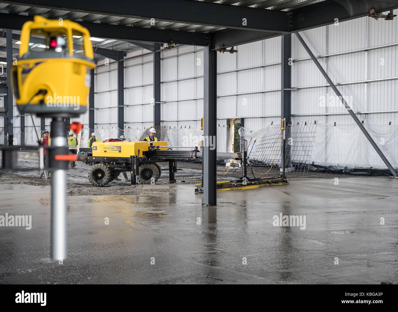 Estrich Maschine Verwendet Laser Level Glatter Beton Boden Legen