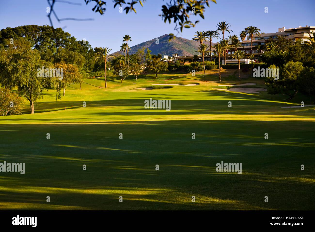 Golfplätze in Andalusien Stockfoto