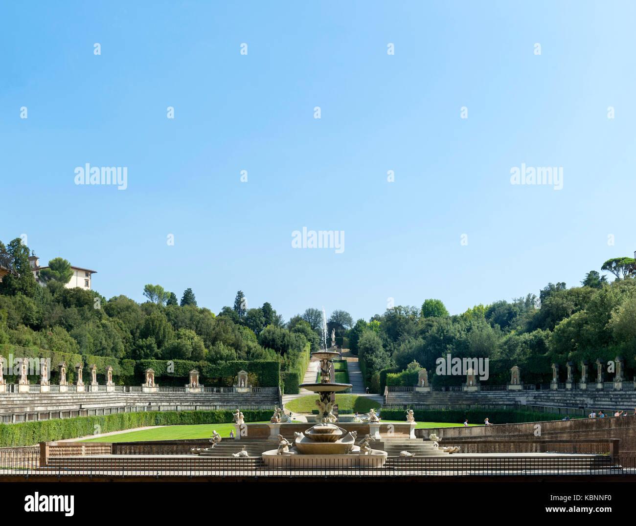 Die boboli gärten florenz der boboli garten giardino di boboli