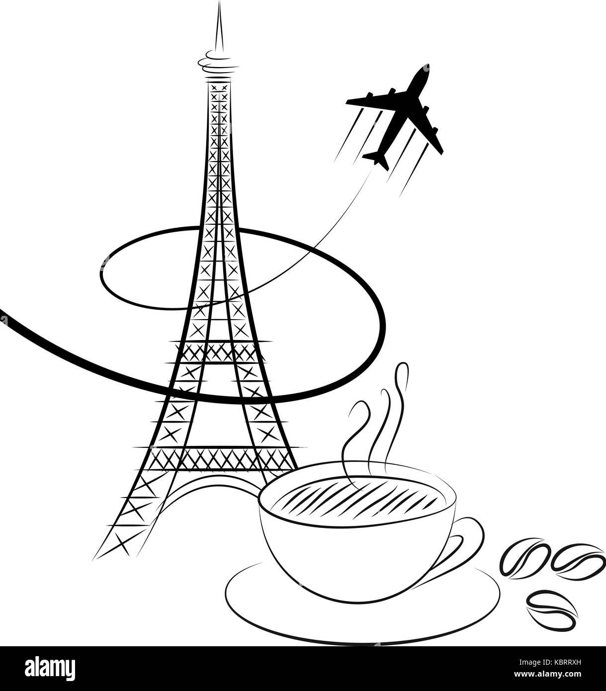 Eiffel Tower Vector Sketch Stockfotos & Eiffel Tower Vector Sketch ...