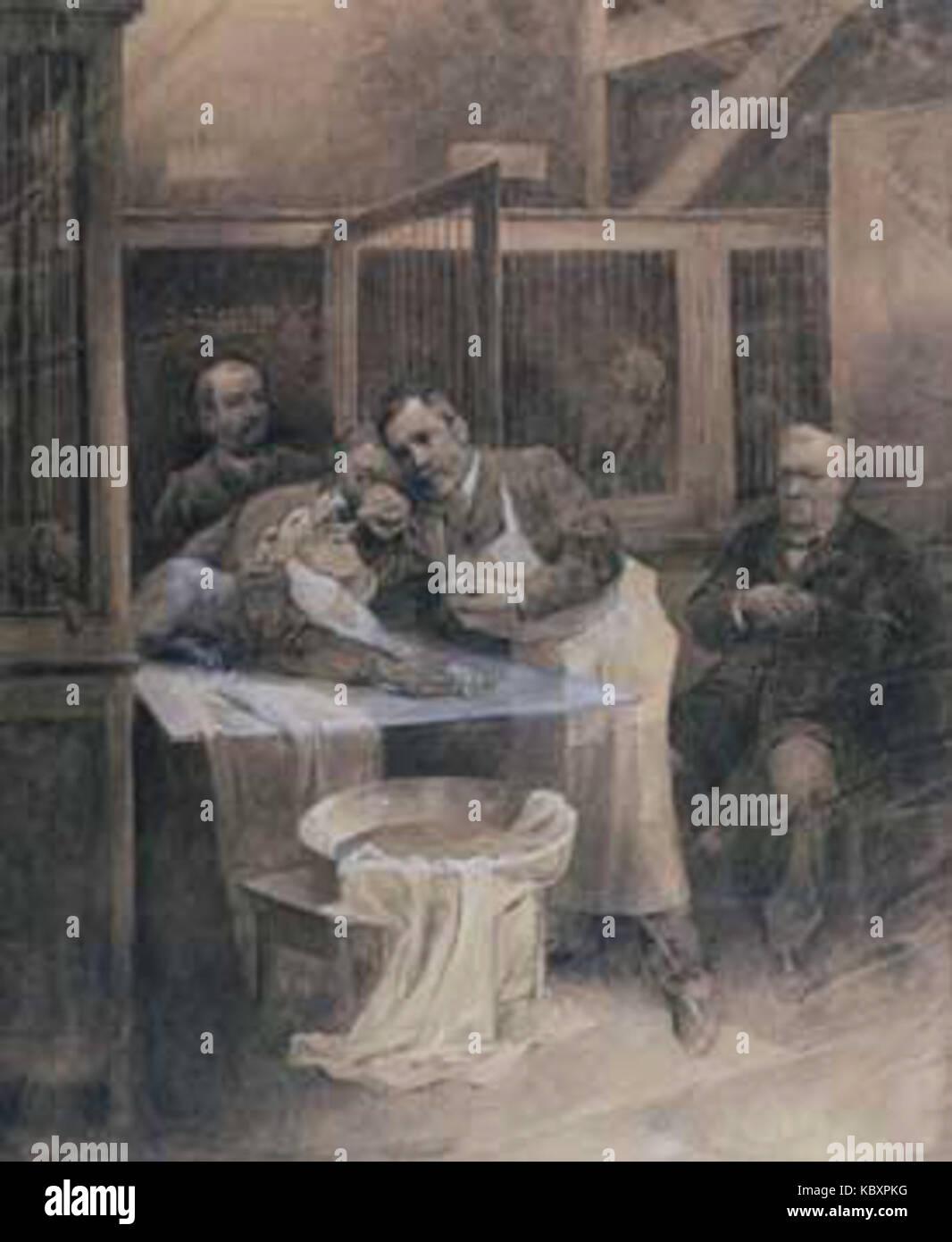Pasteur Und Tollwütiger Hund Von Alfons Mucha Stockfoto Bild