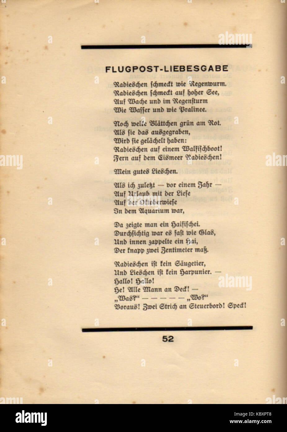 Ringelnatz gedichte regenwurm