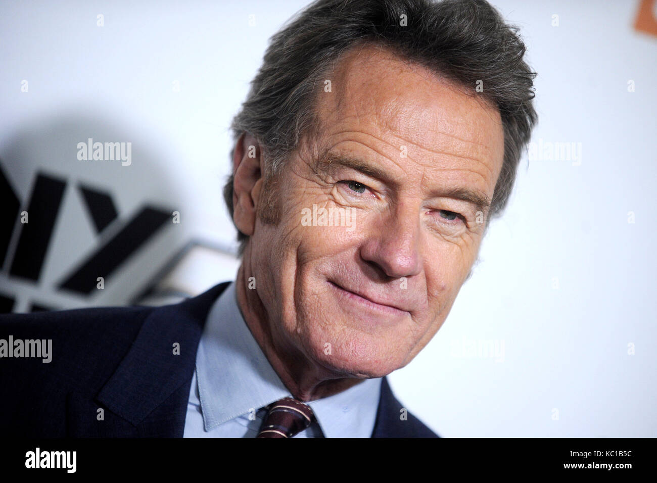 "Bryan Cranston besucht das 55. New York Film Festival mit der Weltpremiere ""Last Flag Flying"" in der Alice Tully Stockfoto"