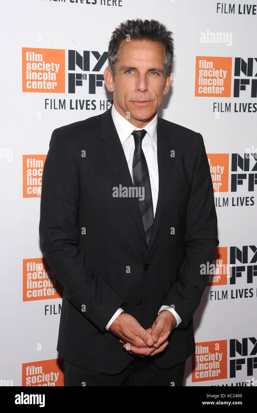 New York, NY, USA. 01 Okt, 2017. Ben Stiller besucht die New York Film Festival screening Der meyerowitz Geschichten Stockfoto
