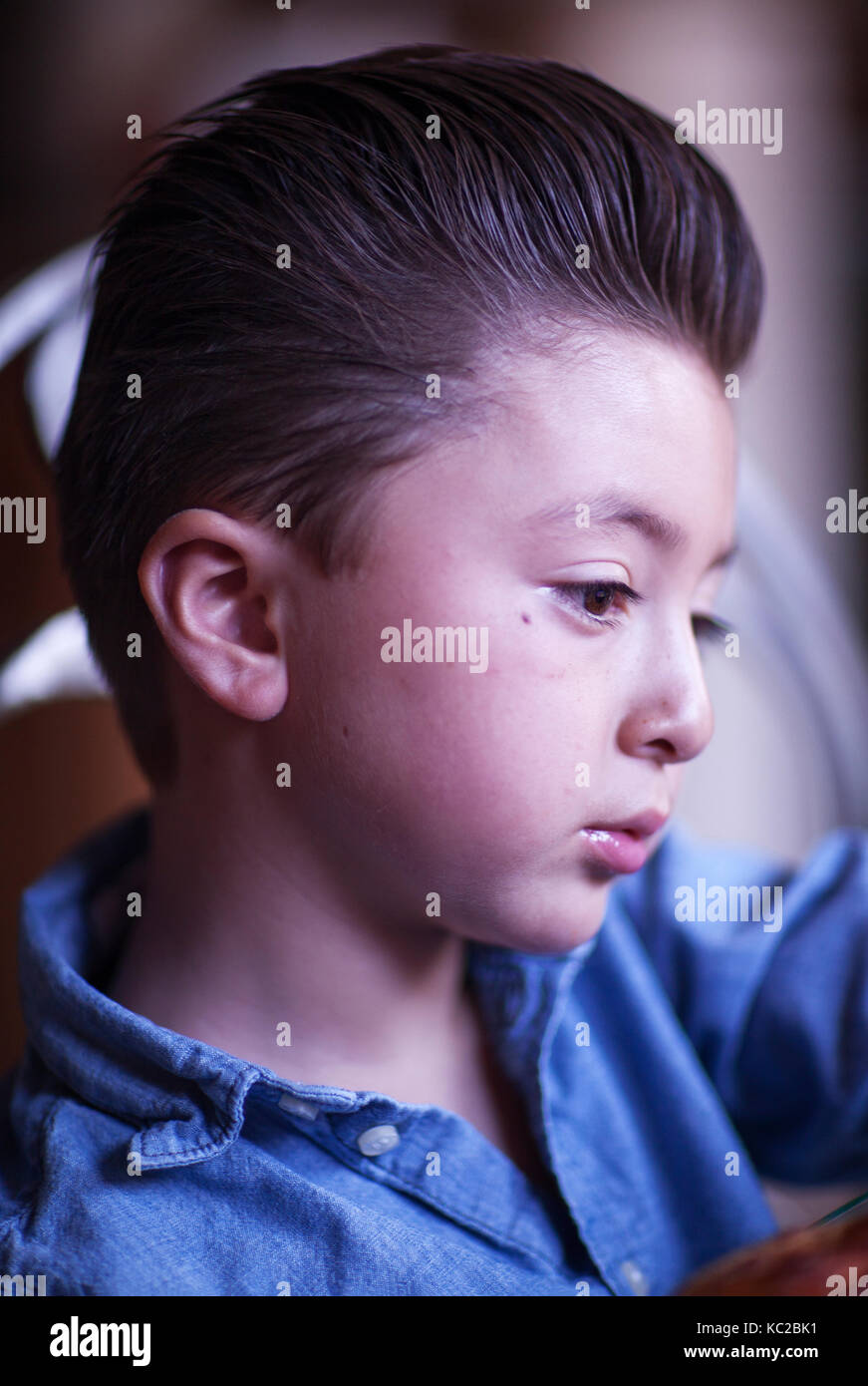 Schöner Kleiner Junge Mit Rockabilly Schmierer James Dean