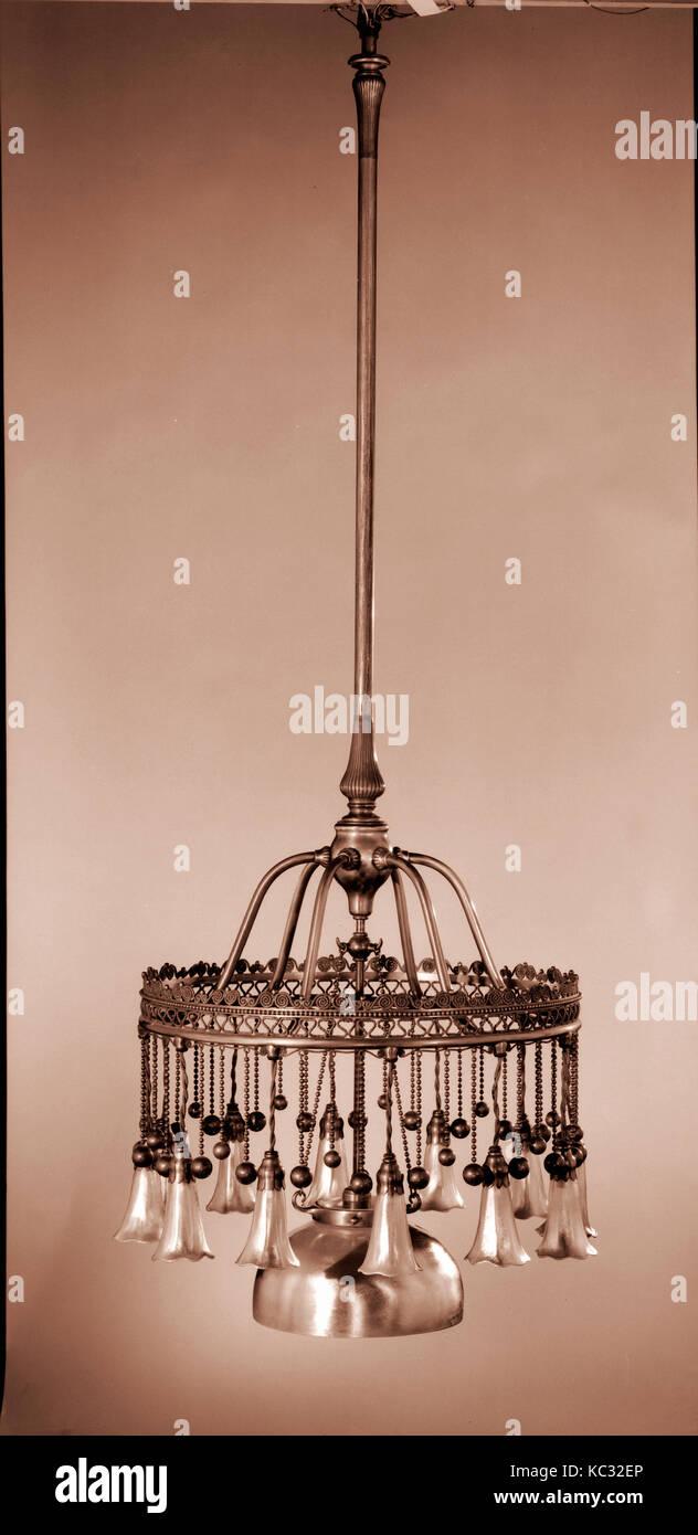 Kronleuchter, Tiffany Glas Und Dekorieren Firma, Ca. 1900   1910 Stockbild