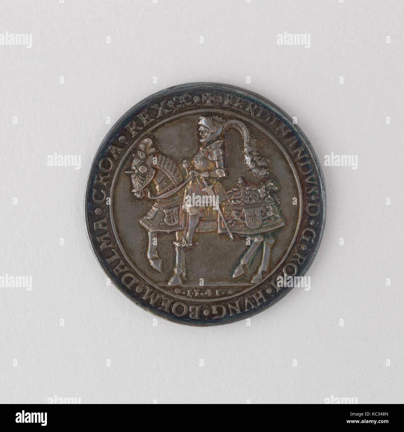 Münze Eineinhalb Thaler Ferdinand I 16 Jahrhundert Stockfoto